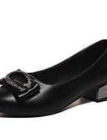 abordables -Femme Escarpins Polyuréthane Automne Chaussures à Talons Talon Bas Bout pointu Beige / Gris / Marron / Quotidien