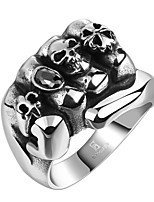 cheap -Men's Vintage Style 3D Band Ring Statement Ring - Titanium Steel Creative Vintage, Punk 9 / 10 Black For Daily Street