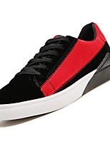 Недорогие -Муж. Комфортная обувь Полиуретан Осень На каждый день Кеды Дышащий Красный / Черно-белый / Черный / Красный
