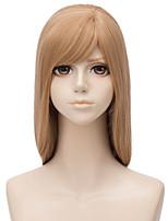Недорогие -Wig Accessories Естественный прямой Боковая часть Искусственные волосы 28 дюймовый Кейс / Косплей Светло-коричневый Парик Жен. Длинные Без шапочки-основы Льняной