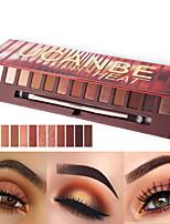Недорогие -Makeup 12 цветов Тени для век Тени для век Не тестировалось на животных / Не содержит формальдегидов / Pro Мерцающий блеск Покрытие Стойкий