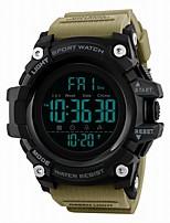 Недорогие -SKMEI Муж. Спортивные часы электронные часы Цифровой 50 m Защита от влаги Календарь С двумя часовыми поясами PU Группа Цифровой Роскошь На каждый день Черный / Синий / Красный -