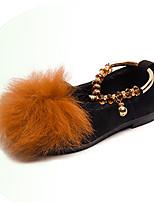 Недорогие -Девочки Обувь Замша Наступила зима Детская праздничная обувь На плокой подошве Для прогулок Пух для Дети Черный / Серый / Желтый