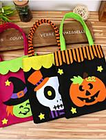 cheap -1pc Halloween Candy Bag Gift Bags Pumpkin Trick Treat Bags Sacks Hallowmas Gift Kids Event Party Random