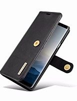 cheap -Case For Samsung Galaxy Note 9 Wallet / Card Holder / with Stand Full Body Cases Solid Colored Hard Genuine Leather for Note 9