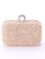 cheap -Women's Bags Polyester / Alloy Evening Bag Crystals / Pearls Black / Beige / Almond