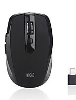 Недорогие -MODAO Беспроводная 2.4G Управление мышью / Бесшумная мышь Оптический E27 6 pcs ключи LED подсветка 3 Регулируемые уровни DPI 2 программируемых клавиши 800/1200/1600 dpi