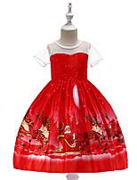Недорогие -Дети / Дети (1-4 лет) Девочки Мультипликация С короткими рукавами Платье