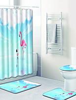 Недорогие -3 предмета На каждый день Коврики для ванны 100 г / м2 полиэфирный стреч-трикотаж Животное нерегулярный Новый дизайн