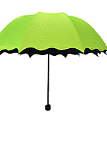 Недорогие -Нержавеющая сталь Жен. Солнечный и дождливой / Очаровательный / Новый дизайн Складные зонты