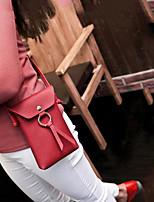 Недорогие -Жен. Мешки PU Мобильный телефон сумка Пуговицы Черный / Розовый / Винный