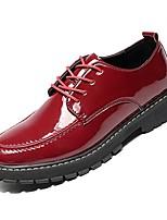 Недорогие -Муж. Комфортная обувь Полиуретан Осень Туфли на шнуровке Черный / Вино