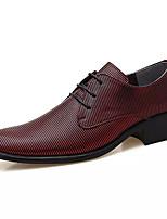 Недорогие -Муж. Комфортная обувь Полиуретан Осень На каждый день Туфли на шнуровке Дышащий Белый / Черный / Красный