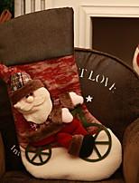 Недорогие -Чулки Новогодняя тематика / Мультяшная тематика Ткань Оригинальные Рождественские украшения