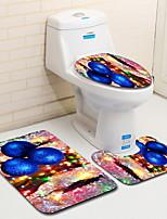 Недорогие -3 предмета Modern Коврики для ванны 100 г / м2 полиэфирный стреч-трикотаж Креатив / Новинки нерегулярный Cool