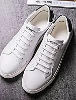 Недорогие -Муж. Комфортная обувь Полиуретан Весна & осень На каждый день Кеды Белый / Черно-белый
