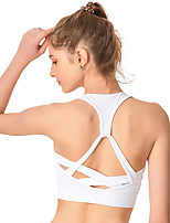 cheap -Strappy Sports Bra / Bra Top Padded High Support For Yoga / Exercise & Fitness / Running - White / Black / Dark Navy High Impact, Quick Dry, Breathable Women's Nylon