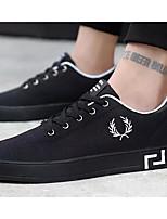 Недорогие -Муж. Комфортная обувь Полотно Весна & осень Кеды Черный / Красный