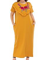 cheap -Women's Basic T Shirt Dress - Floral