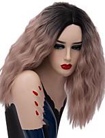 Недорогие -Wig Accessories Прямой Стрижка каскад Искусственные волосы 16 дюймовый Косплей Блондинка Парик Жен. Короткие Без шапочки-основы Темно-русый
