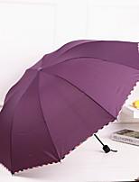 Недорогие -Нержавеющая сталь Все Солнечный и дождливой / Новый дизайн / обожаемый Складные зонты