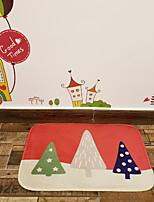baratos -doormats do dia de acção de graças do polyster do Natal, tapete quadrado da qualidade superior