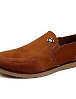 Недорогие -Муж. Комфортная обувь Замша Осень На каждый день Мокасины и Свитер Дышащий Желтый / Синий