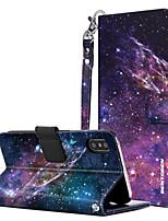 Недорогие -Кейс для Назначение Apple iPhone X / iPhone XS Кошелек / Бумажник для карт / со стендом Чехол Однотонный / Сияние и блеск Твердый Кожа PU / ПК для iPhone XS / iPhone X