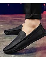 Недорогие -Муж. Комфортная обувь Полиуретан Весна & осень Мокасины и Свитер Черный / Коричневый / Миндальный