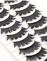 Недорогие -Ресницы 20 pcs Pro Натуральный Кудрявый Волокно На каждый день Тренировочные Натуральная длина - Составить Повседневный макияж Макияж на Хэллоуин Макияж для вечеринки Профессиональный косметический