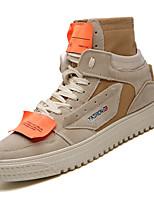Недорогие -Муж. Комфортная обувь Полиуретан Осень На каждый день Кеды Нескользкий Контрастных цветов Бежевый / Коричневый / Черно-белый