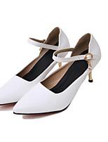 Недорогие -Жен. Балетки Полиуретан Весна Обувь на каблуках На шпильке Белый / Черный / Красный