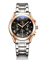 cheap -Men's Dress Watch Mechanical Watch Quartz 100 m Water Resistant / Water Proof Calendar / date / day Noctilucent Stainless Steel Band Analog Luxury Fashion Silver - Black Silver Rose Gold