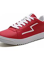 Недорогие -Муж. Комфортная обувь Полиуретан Осень На каждый день Кеды Доказательство износа Белый / Черный / Красный