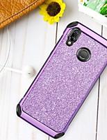 billiga -fodral Till Huawei P20 lite Stötsäker / Plätering / Glittrig Skal Glittrig Hårt TPU / PC för Huawei P20 lite