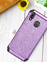 Недорогие -Кейс для Назначение Huawei P20 lite Защита от удара / Покрытие / Сияние и блеск Кейс на заднюю панель Сияние и блеск Твердый ТПУ / ПК для Huawei P20 lite