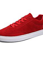 Недорогие -Муж. Комфортная обувь Полиуретан Осень На каждый день Кеды Нескользкий Черный / Красный / Синий