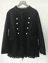 Недорогие -Жен. Куртка Однотонный Кружева