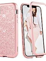 baratos -Capinha Para Apple iPhone XR / iPhone XS Max Antichoque Capa Proteção Completa Sólido / Glitter Brilhante Rígida TPU / PC para iPhone XS / iPhone XR / iPhone XS Max
