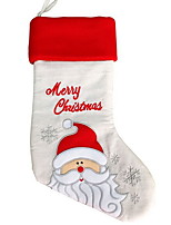 baratos -Meias Finas Férias Tecido Cubo Novidades Decoração de Natal