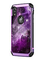 Недорогие -Кейс для Назначение Apple iPhone XR / iPhone XS Max Защита от удара / Покрытие / С узором Кейс на заднюю панель Пейзаж / Градиент цвета Твердый Кожа PU / ПК для iPhone XR / iPhone XS Max