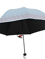 Недорогие -Ткань / Нержавеющая сталь Все Солнечный и дождливой / Новый дизайн Складные зонты