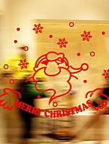 Недорогие -Оконная пленка и наклейки Украшение Рождество Праздник ПВХ Водоотталкивающие / Cool