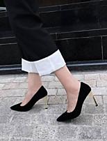 abordables -Femme Chaussures de confort Daim Eté Chaussures à Talons Talon Aiguille Noir / Violet / Rouge