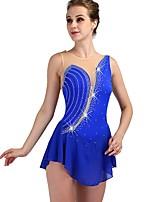Недорогие -Платье для фигурного катания Жен. Катание на коньках Платья Тёмно-синий Спандекс, Эластичная пряжа Эластичность Профессиональный стиль / Соревнование Одежда для фигурного катания / Быстровысыхающий