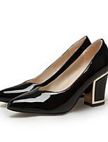 abordables -Femme Chaussures de confort Cuir Verni Printemps Chaussures à Talons Talon Bottier Noir