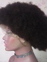 Недорогие -Remy Лента спереди Парик Бразильские волосы Афро Квинки Парик Стрижка боб / Стрижка каскад 130% Природные волосы / Прямой пробор / Боковая часть Нейтральный Жен. Короткие