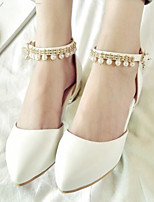 Недорогие -Жен. Комфортная обувь Полиуретан Весна & осень На плокой подошве На плоской подошве Белый / Лиловый / Розовый