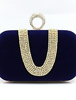 cheap -Women's Bags Suede Evening Bag Crystals Wine / Khaki / Royal Blue