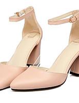 baratos -Mulheres Sapatos Confortáveis Couro Ecológico Primavera Sapatos De Casamento Salto Agulha Bege / Cinzento / Rosa claro